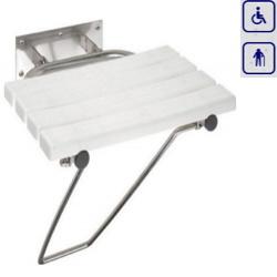 Siedzisko prysznicowe składane z podpórką 301102