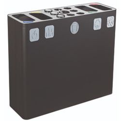 Kosz do segregacji śmieci 3-elementowy 300L AKC392041