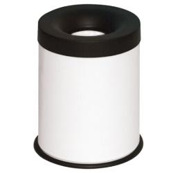 Kosz na śmieci samogasnący biały 15L AKC390001