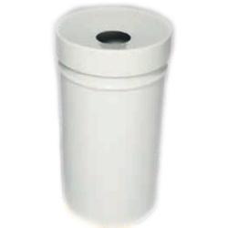 Kosz na śmieci samogasnący biały 16L AKC377001