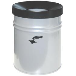 Kosz na śmieci samogasnący biały 24L AKC370004