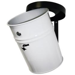Kosz na śmieci samogasnący ścienny biały 30L AKC370333