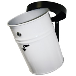 Kosz na śmieci samogasnący ścienny biały 60L AKC370602