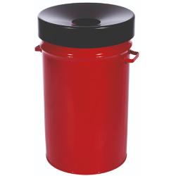 Kosz na śmieci samogasnący z uchwytami czerwony 60L AKC340338