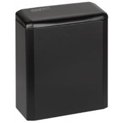 Mediclinics kosz sanitarny z pokrywką czarny 6L PP0006B