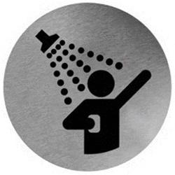 Piktogram prysznic ze stali nierdzewnej PS07CS