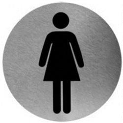 Piktogram damska ze stali nierdzewnej PS02CS