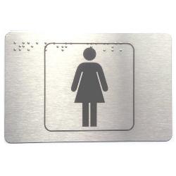 Piktogram toaleta damska z nadrukiem Braille'a PB03
