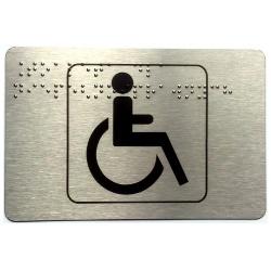 Piktogram toaleta dla niepełnosprawnych z nadrukiem Braille'a PB01