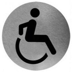 Piktogram toaleta dla niepełnosprawnych ze stali nierdzewnej PS04CS