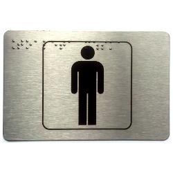 Piktogram toaleta męska z nadrukiem Braille'a PB04
