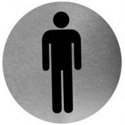 Piktogram toaleta męska ze stali nierdzewnej PS03CS