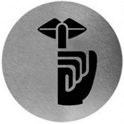 Piktogram zachowaj cisze ze stali nierdzewnej PS08CS