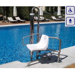 Podnośnik basenowy hydrauliczny max obciążenie 120kg lub 150kg B2