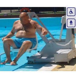 Podnośnik basenowy mobilny akumulatorowy max obciążenie 120kg lub 150kg 400