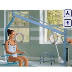 Podnośnik basenowy z ławką oraz wózkiem transportowym, max obciążenie 135 kg 14250