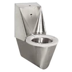 Toaleta podwieszana z samoczyszczącą deską ze stali nierdzewnej 1100