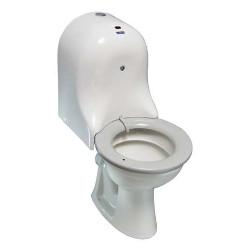 Toaleta stojąca z deską samoczyszczącą dla niepełnosprawnych z odpływem poziomym 1020
