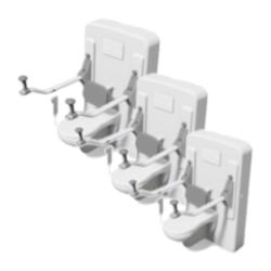 Stelaże do miski WC z regulacją wysokości