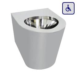 Toaleta stojąca dla osób niepełnosprawnych ze stali nierdzewnej AKC13012.M.B-M.S