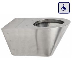 Toaleta wisząca dla osób niepełnosprawnych ze stali nierdzewnej AKC650754