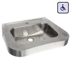 Umywalka ścienna dla niepełnosprawnych ze stali nierdzewnej 620х505 AKC13024