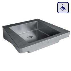 Umywalka ścienna dla niepełnosprawnych ze stali nierdzewnej 620х505 LOG 130200
