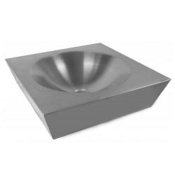 Umywalka nablatowa ze stali nierdzewnej 470×470 AKC130305