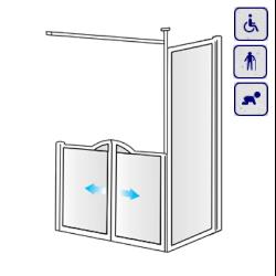 Kabiny prysznicowe dla osób starszych, niepełnosprawnych, dzieci AKCV17