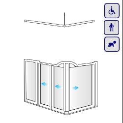 Kabiny prysznicowe dla osób starszych, niepełnosprawnych, dzieci AKCV5