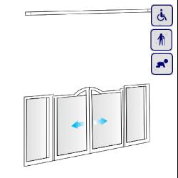 Drzwi do wnęki dla osób starszych, niepełnosprawnych, dzieci AKCV10