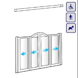 Drzwi do wnęki dla osób starszych, niepełnosprawnych, dzieci AKCV2