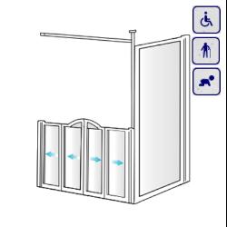 Kabiny prysznicowe dla osób starszych, niepełnosprawnych, dzieci AKCV18
