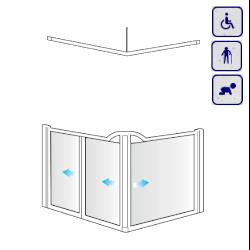 Kabiny prysznicowe dla osób starszych, niepełnosprawnych, dzieci AKCV6