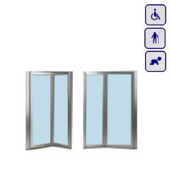 Drzwi do wnęki dla osób starszych, niepełnosprawnych,dzieci AKCH95DOUBLE
