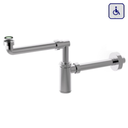 Syfon do umywalki dla niepełnosprawnych butelkowy chrom AKCP25K7