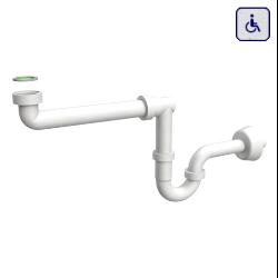Syfon do umywalki dla niepełnosprawnych butelkowy biały AKCP30B0