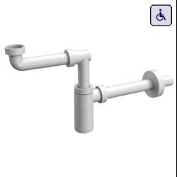 Syfon do umywalki dla niepełnosprawnych butelkowy biały AKCP32B0