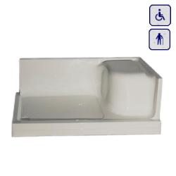 Brodzik z siedziskiem dla niepełnosprawnych BOX140/150/160/170