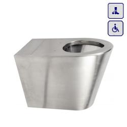 Wisząca toaleta o podwyższonym stopniu wandalizmu dla osób niepełnosprawnych AKC650769