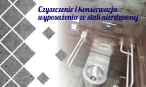 Czyszczenie i konserwacja wyposażenia sanitarnego ze stali nierdzewnej