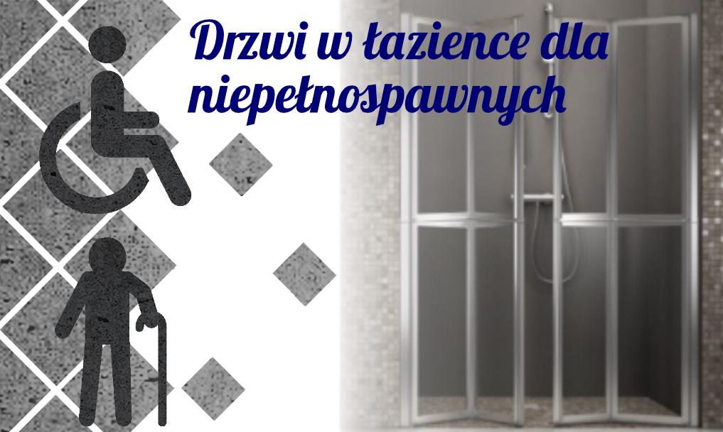 Drzwi w łazience dla niepełnosprawnych