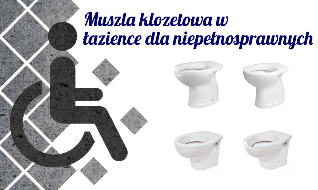 Muszla klozetowa w łazience dla niepełnosprawnych