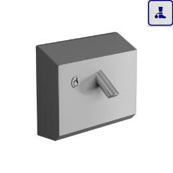 Naścienna bateria umywalkowa bez mieszacza o podwyższonym stopniu wandalizmu AKC09PTB