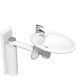 Umywalka mobilna z manualną regulacją wysokości 40-41140