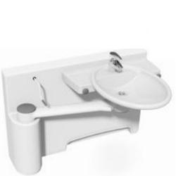Umywalka mobilna ze ścianką dokującą oraz manualną regulacją wysokości, model lewostronny 40-40072