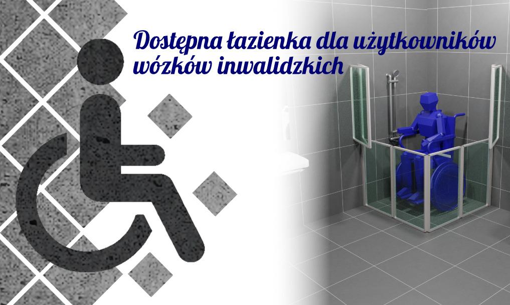 Dostępna łazienka dla użytkowników wózków inwalidzkich