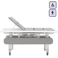 Mobilne łóżko prysznicowe z elektryczną regulacją wysokości 146 cm 40-31406-1