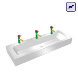 Umywalka trzystanowiskowa AKC81100KIDS3